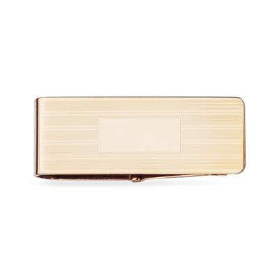 14k Yellow Gold Hinged Money Clip