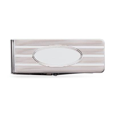 Sterling Silver Hinged Money Clip