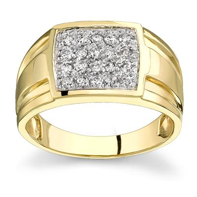 10k Yellow Gold Diamond Men