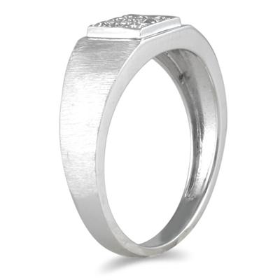 10kt White Gold and Diamond Men