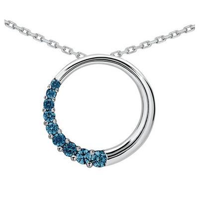 1/4 Carat TW Diamond Circle Journey Pendant in 10K White Gold