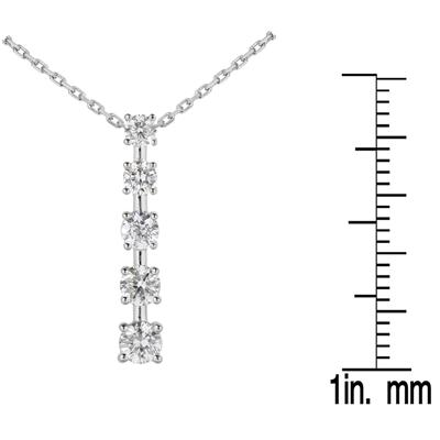 1/4 CTW Diamond Journey Pendant in 10K White Gold