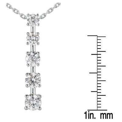 2.00 CTW Diamond Journey Pendant in 10K White Gold