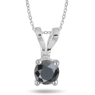 0.25 Carat T.W Black Diamond Pendant in .925 Sterling Silver