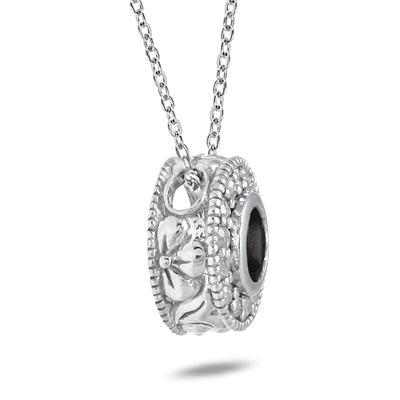 1/3 Carat Black and White Diamond Pendant in 10K White Gold