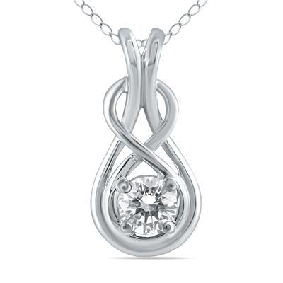1/2 Carat Diamond Pendant in 10K White Gold
