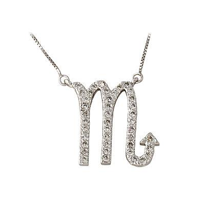 .41ctw Diamond Scorpio Zodiac Pendant 14K White Gold (Oct 23 - Nov 21)