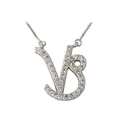 .37ctw Diamond Capricorn Zodiac Pendant 14K White Gold (Dec 22 - Jan 19)
