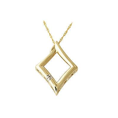 10-kt. Yellow Gold Diamond Pendant
