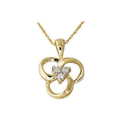 14-kt. Diamond Swirl Pendant