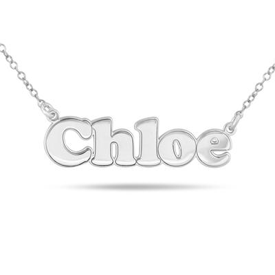 Custom Name Pendant Necklace in .925 Sterling Silver
