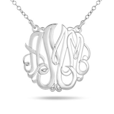Monogram Initial Pendant in .925 Sterling Silver