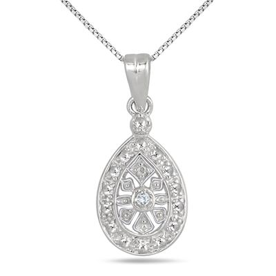 Antique Engraved Diamond Pendant