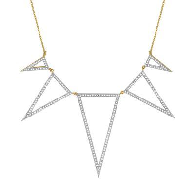 5/8 Carat TW Diamond Necklace in 10K Yellow Gold