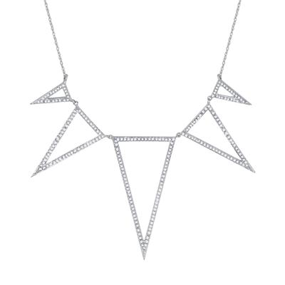5/8 Carat TW Diamond Necklace in 10K White Gold