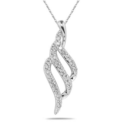 1/5 Carat Diamond Pendant in 10K White Gold