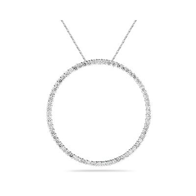 1.00ctw Diamond Circle Pendant in 14K White Gold