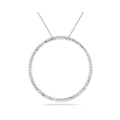 1.00ctw Diamond Circle Pendant in 14K White Gold