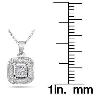 1/10 Carat Antique Engraved Diamond Jewelry Ensemble in Solid .925 Sterling Silver