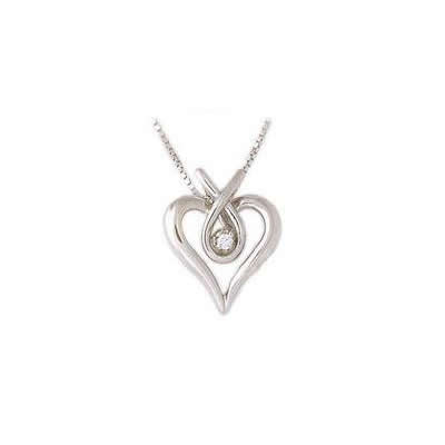 Diamond Heary Ribbon Pendant