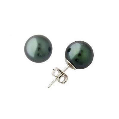 7-7.5mm Natural Freshwater Pink, White and Black Pearl Earring Set in 14k Gold