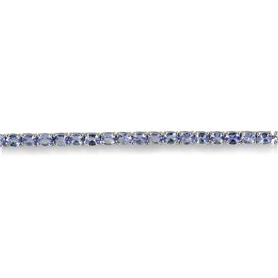 7.50 Carat Oval Tanzanite Bracelet in .925 Sterling Silver