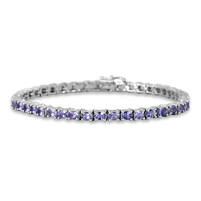 7.75 Carat Tanzanite Bracelet in .925 Sterling Silver