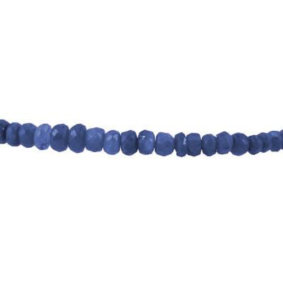 20 Carat All Natural Beaded Sapphire Bracelet with Magnetic Clasp