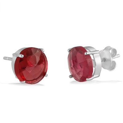 10MM Ruby Quartz Stud Earrings