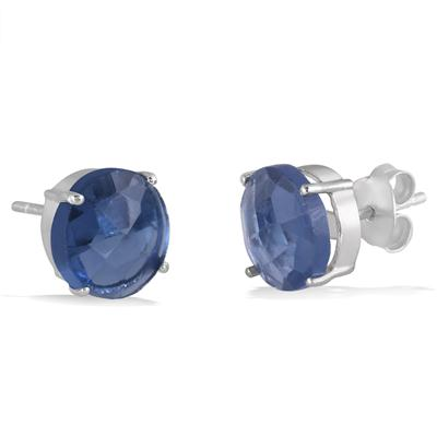 Choose Red, White or Blue Quartz Earrings in .925 Sterling Silver just $14 + Free Shipping!
