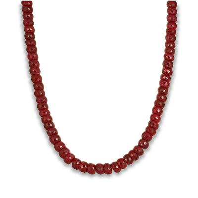 300 Carat All Natural Genuine Ruby Necklace in .925 Sterling Silver