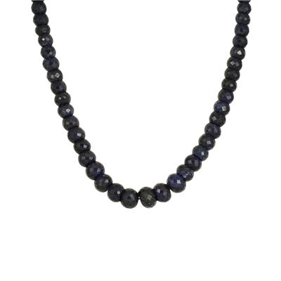 300 Carat All Natural Genuine Sapphire Necklace in .925 Sterling Silver