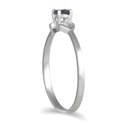 Sapphire Ring in 10K White Gold