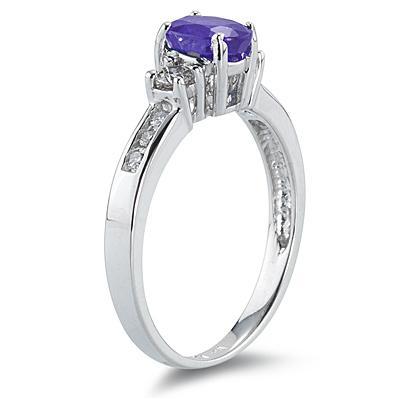 Tanzanite and Diamond Regal Channel Ring
