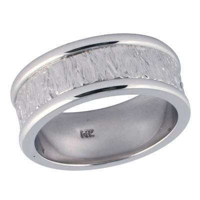 14K White Gold Classic Rigid Wedding Ring