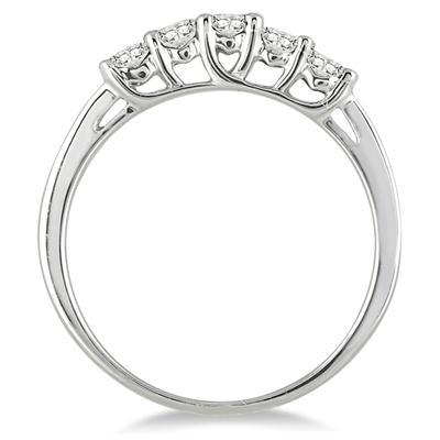 1/4 Carat TW Diamond 5 Stone Ring in 10K White Gold