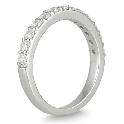 1/2 Carat Diamond Wedding Band in 10K White Gold
