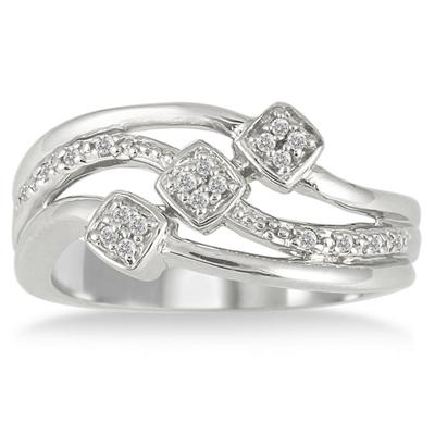 1/10 Carat T.W Diamond Ring in .925 Sterling Silver