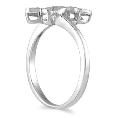 0.25CTW Diamond Butterfly Ring in Sterling Silver