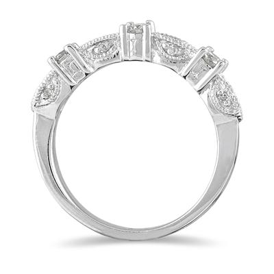 1/3 Carat TW Diamond Band in 10K White Gold
