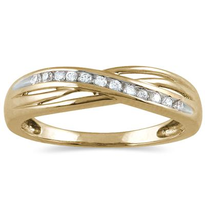1/10 Carat TW Diamond Ring 10K Yellow Gold