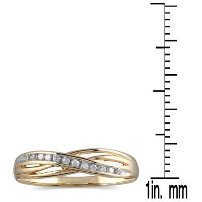 1/10 Carat TW Diamond Ring 10K Yellow Gold