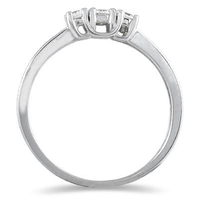 1/4 Carat TW Diamond 3 stone Ring in 10K White Gold