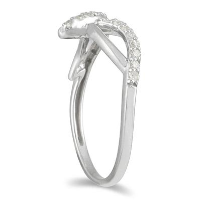 1/5 CTW Diamond Ring in 10K White Gold