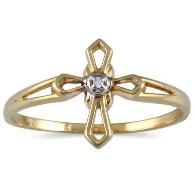 .05 Carat Diamond Promise Ring in 10K Yellow Gold