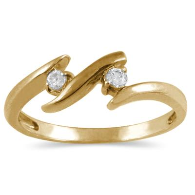 1/10 Carat Diamond Ring in 14K Yellow Gold