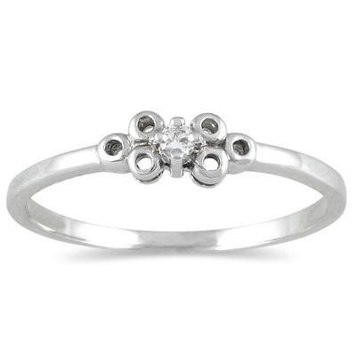 0.03 CTW Diamond Promise Ring in 10K White Gold