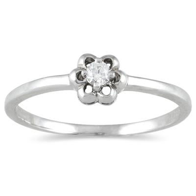 .05 Carat Diamond Promise Ring in 10K White Gold