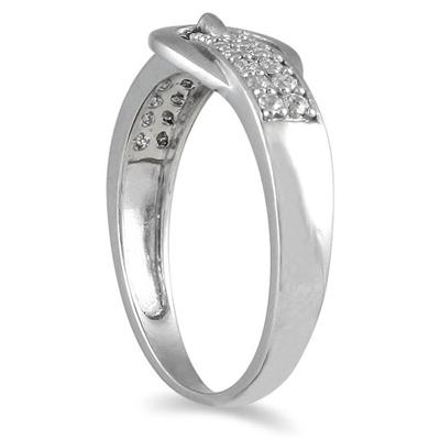 1/5 Carat TW Diamond Buckle Ring in 10K White Gold