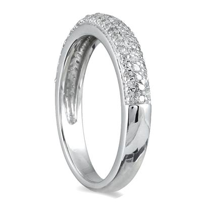 2/5 Carat Diamond Wedding Band in 10K White Gold